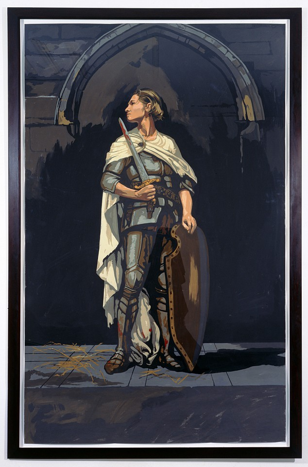 Matthew Benedict ,   Saint Joan of Arc  ,  1997-98     gouache on paper     96 x 60 in/244 x 152.5 cm     MATB-98-DR-138